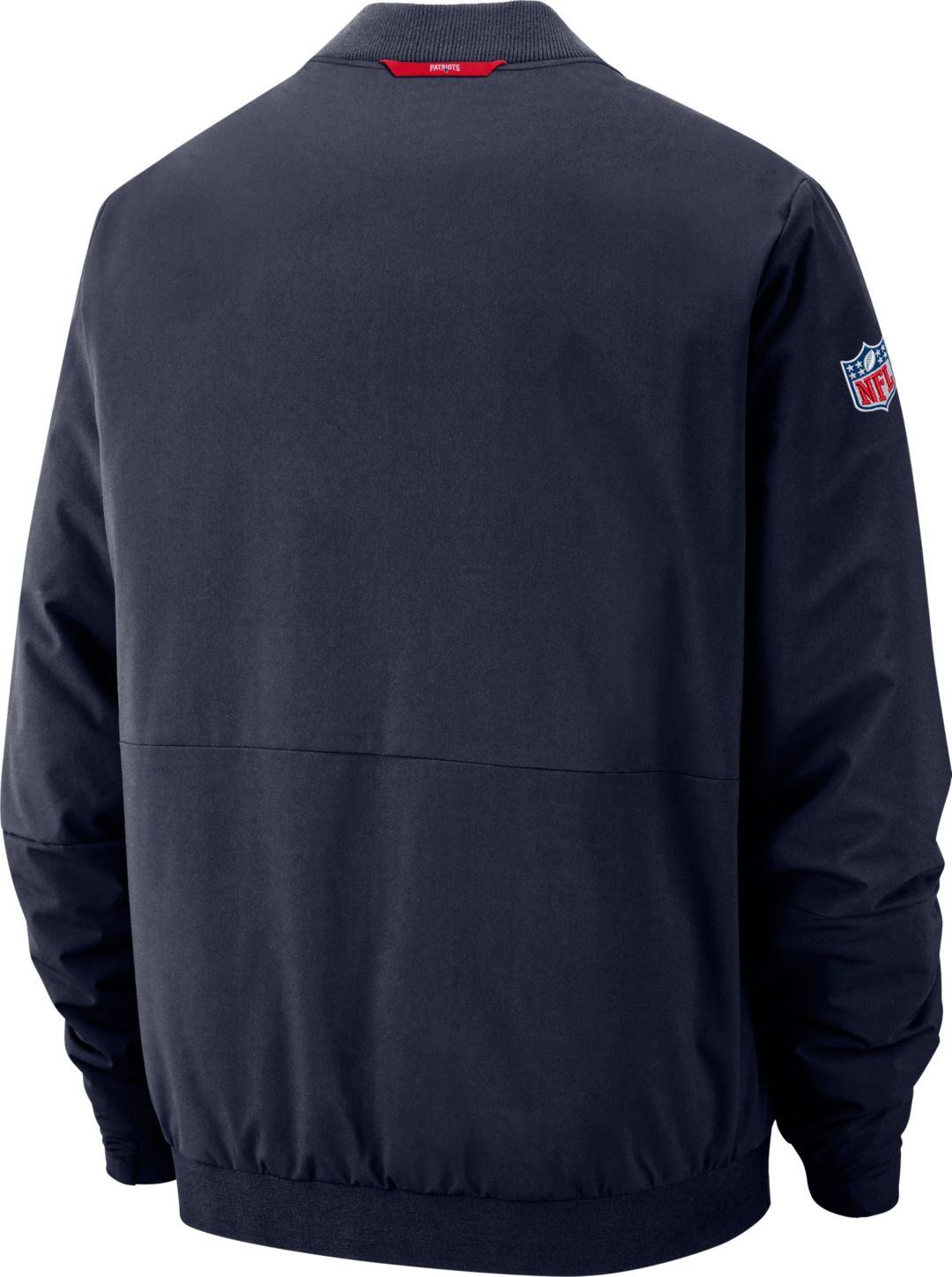 8915186a658 Nike Men's New England Patriots Sideline Shield Navy Bomber Jacket ...