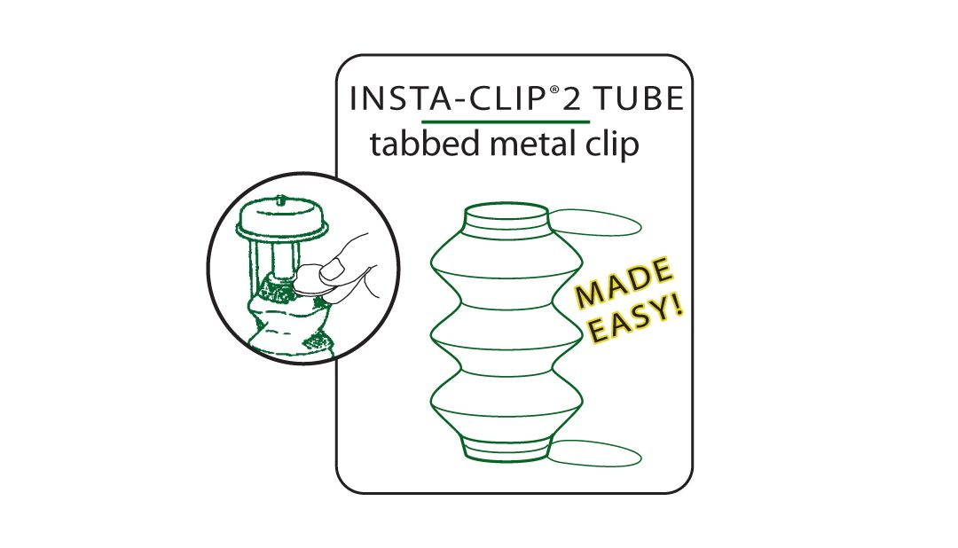Coleman Insta-Clip Accordion Tube Shape Replacement Mantle