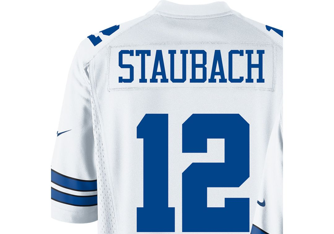 low priced c96e2 55ea4 Nike Men's Home Game Legends Jersey Dallas Cowboys Roger Staubach #12