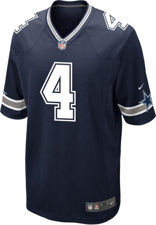 Nike Men s Game Jersey Dallas Cowboys Dak Prescott  4  f0d8f3812ba4b
