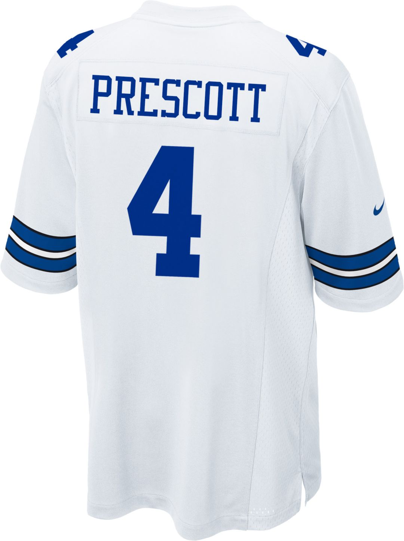 more photos 5341f 40290 Nike Men's Game Jersey Dallas Cowboys Dak Prescott #4