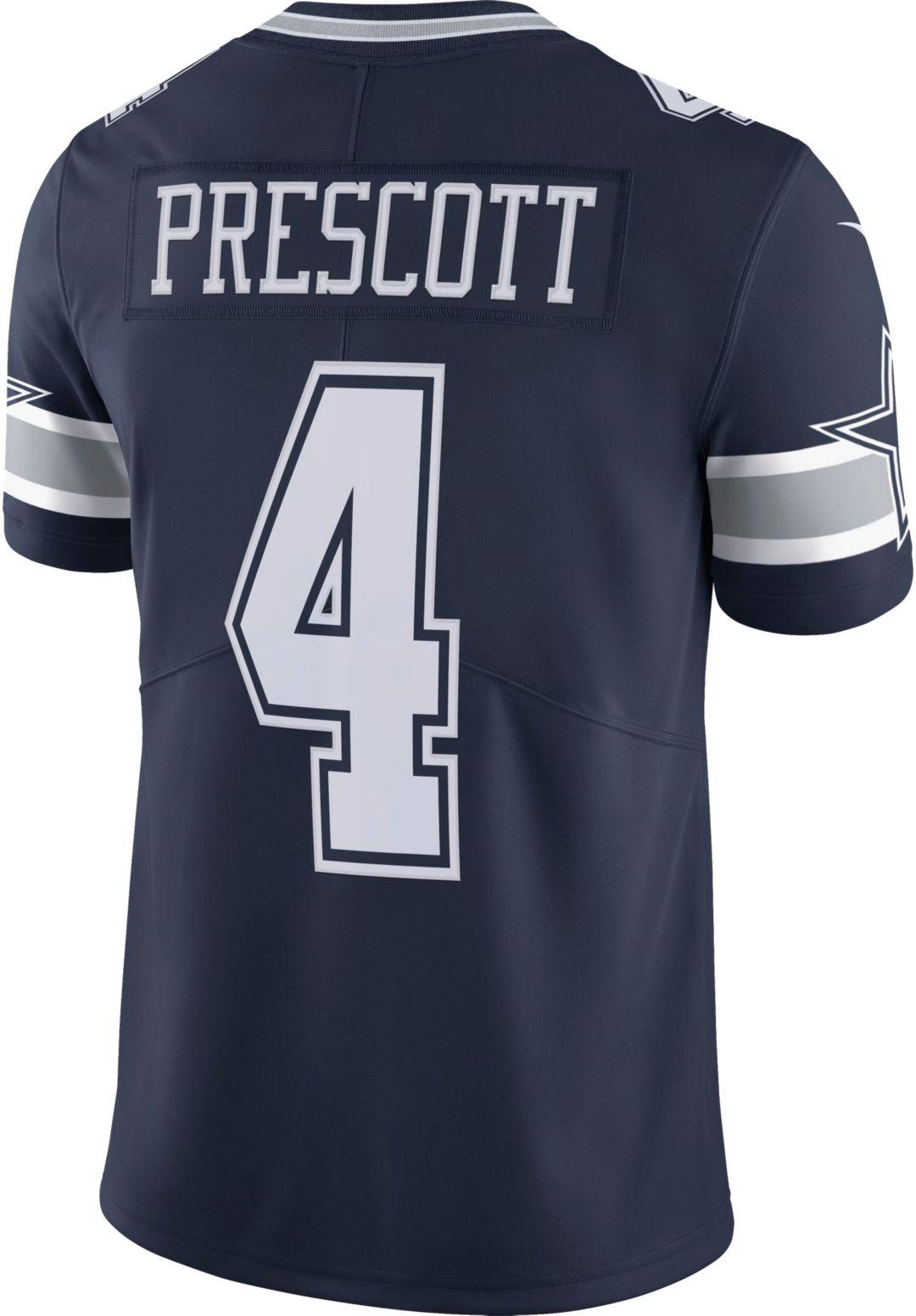 buy popular cac3f da055 Nike Men's Limited Jersey Dallas Cowboys Dak Prescott #4