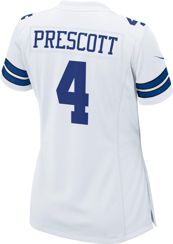 reputable site cb838 f957c Nike Women's Limited Jersey Dallas Cowboys Dak Prescott #4