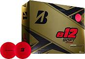 Bridgestone e12 SOFT Matte Red Personalized Golf Balls product image