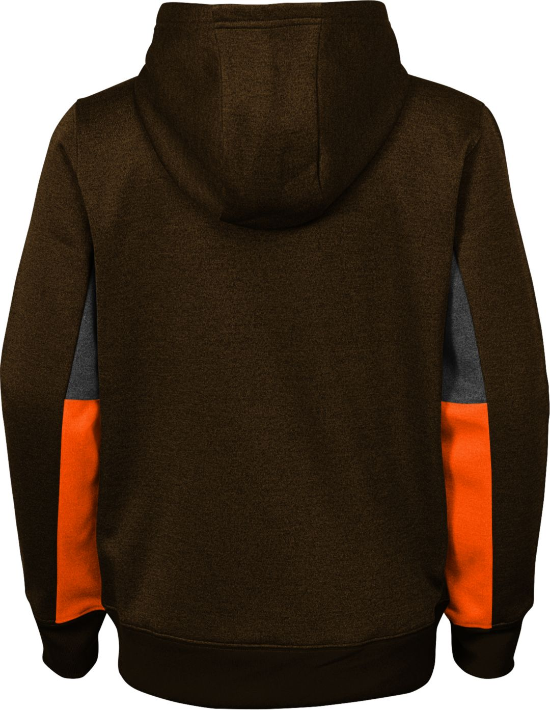 41c4a6f0 NFL Team Apparel Youth Cleveland Browns Status Performance Brown Hoodie