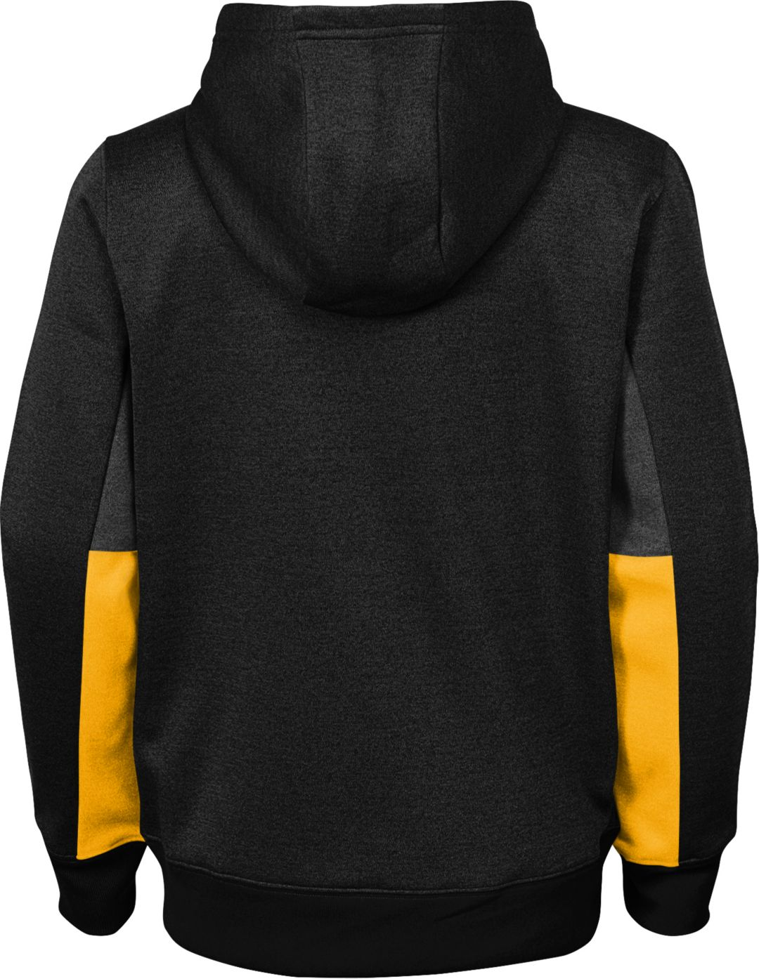 best service 800f6 0ab86 NFL Team Apparel Youth Pittsburgh Steelers Status Performance Black Hoodie