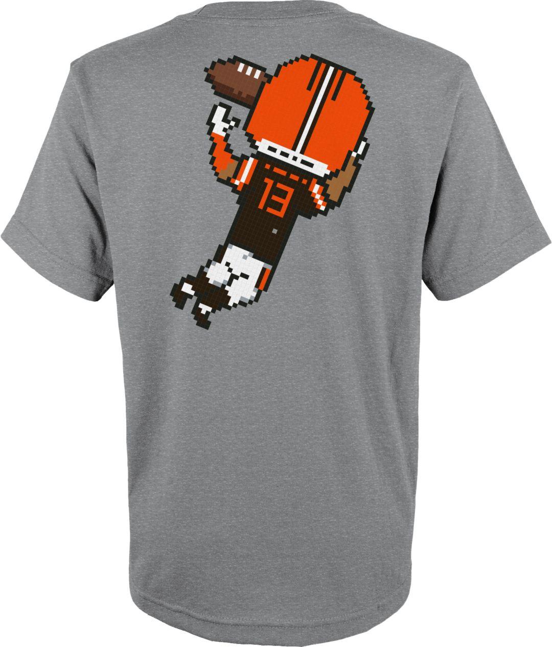 sports shoes eceae 63365 NFL Team Apparel Youth Cleveland Browns Odell Beckham Jr. #13 Pixel T-Shirt