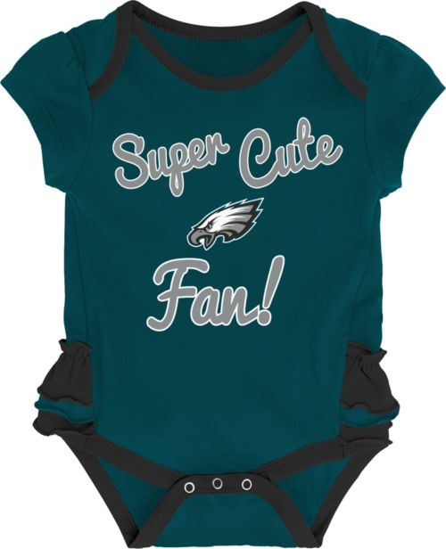 fbb7ebf21 NFL Team Apparel Infant Girls  Philadelphia Eagles Trifecta Onesie ...