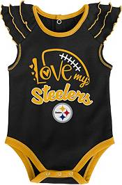 NFL Team Apparel Infant Girl Pittsburgh Steelers 2-Piece Creeper Set product image
