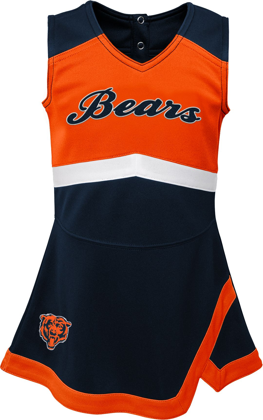 buy popular 632f8 c6d83 NFL Team Apparel Toddler Chicago Bears Cheer Jumper Dress