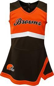 NFL Team Apparel Toddler Cleveland Browns Cheer Jumper Dress product image