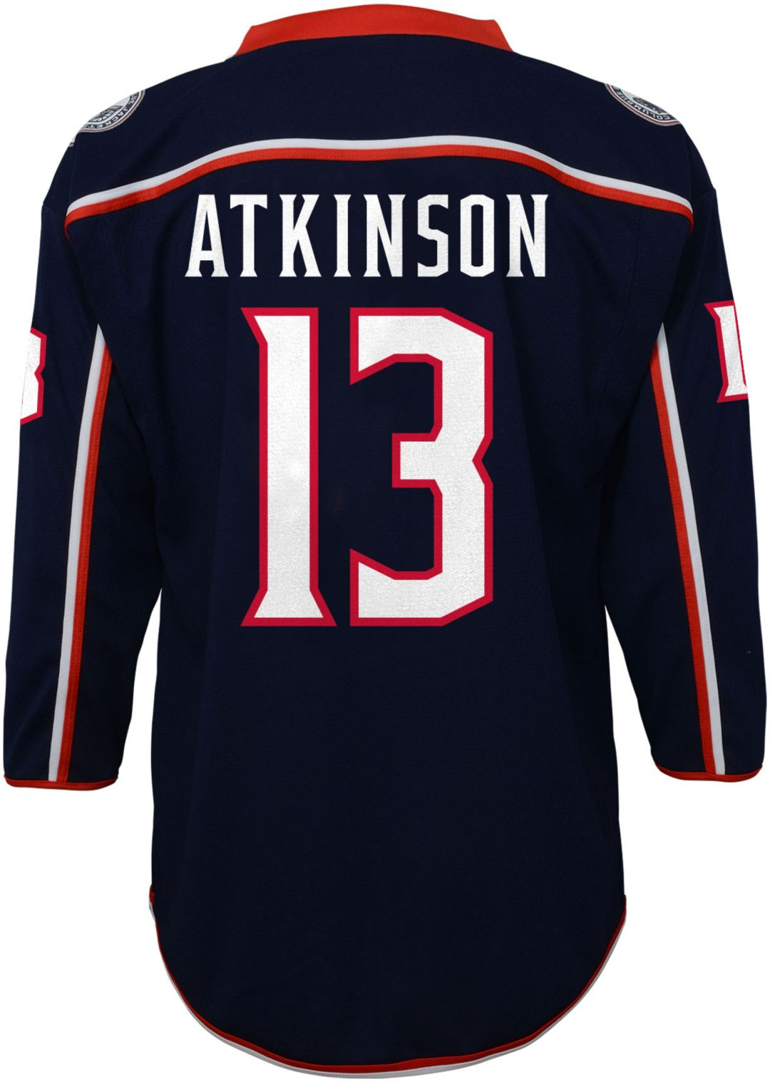 new product b89f5 92f6b NHL Youth Columbus Blue Jackets Cam Atkinson #13 Replica Home Jersey
