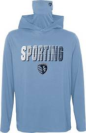 Outerstuff Youth Sporting Kansas City Blocker Blue Long Sleeve Hoodie product image