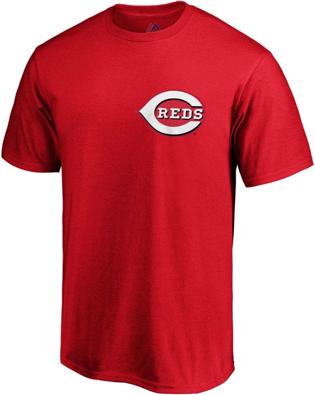 size 40 726bb e5d53 Majestic Youth Cincinnati Reds Eugenio Suarez #7 Red T-Shirt