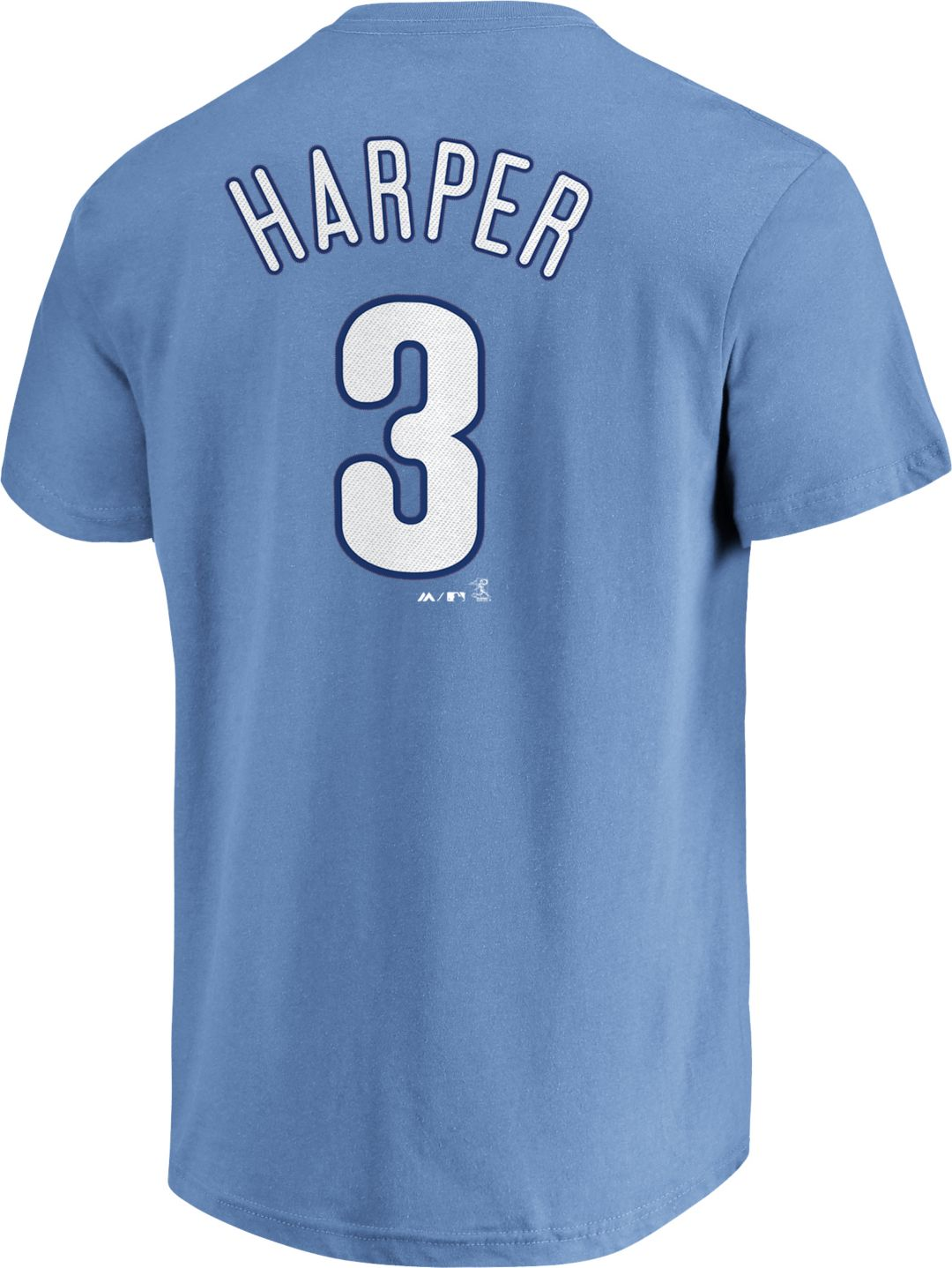 separation shoes cda23 24dc3 Majestic Youth Philadelphia Phillies Bryce Harper #3 Light Blue T-Shirt