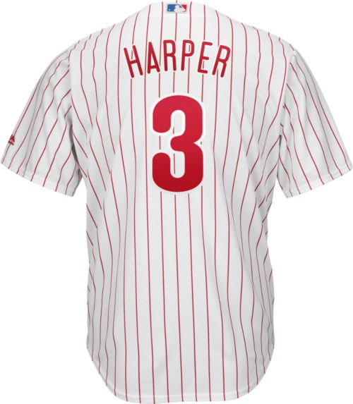 047ae8cce Majestic Youth Replica Philadelphia Phillies Bryce Harper  3 Cool Base Home  White Jersey. noImageFound. Previous. 1. 2. 3