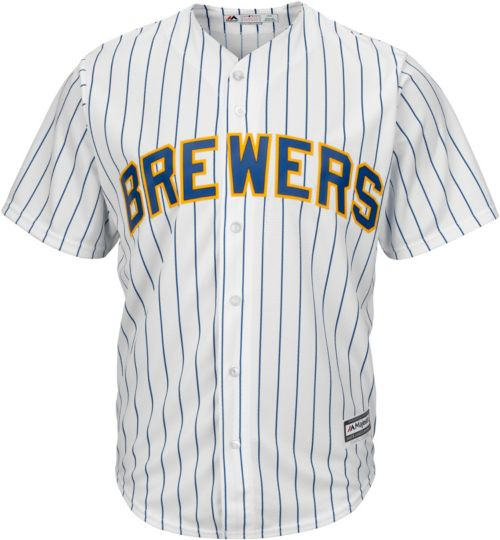 f8e64410d78 Majestic Youth Replica Milwaukee Brewers Christian Yelich  22 Cool Base  Alternate White Jersey
