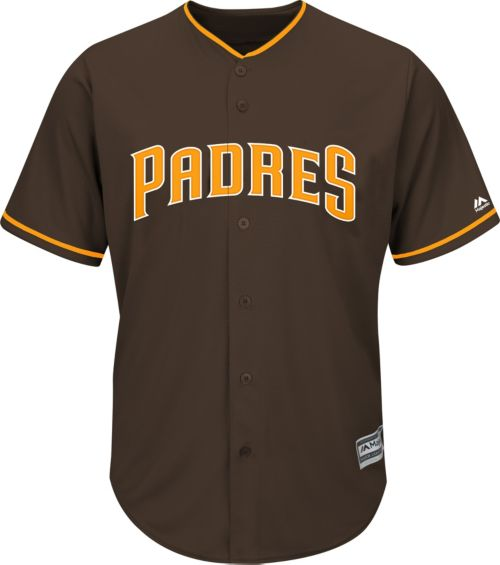 cc526cfab Majestic Youth Replica San Diego Padres Fernando Tatis Jr.  23 Cool Base  Alternate Brown Jersey
