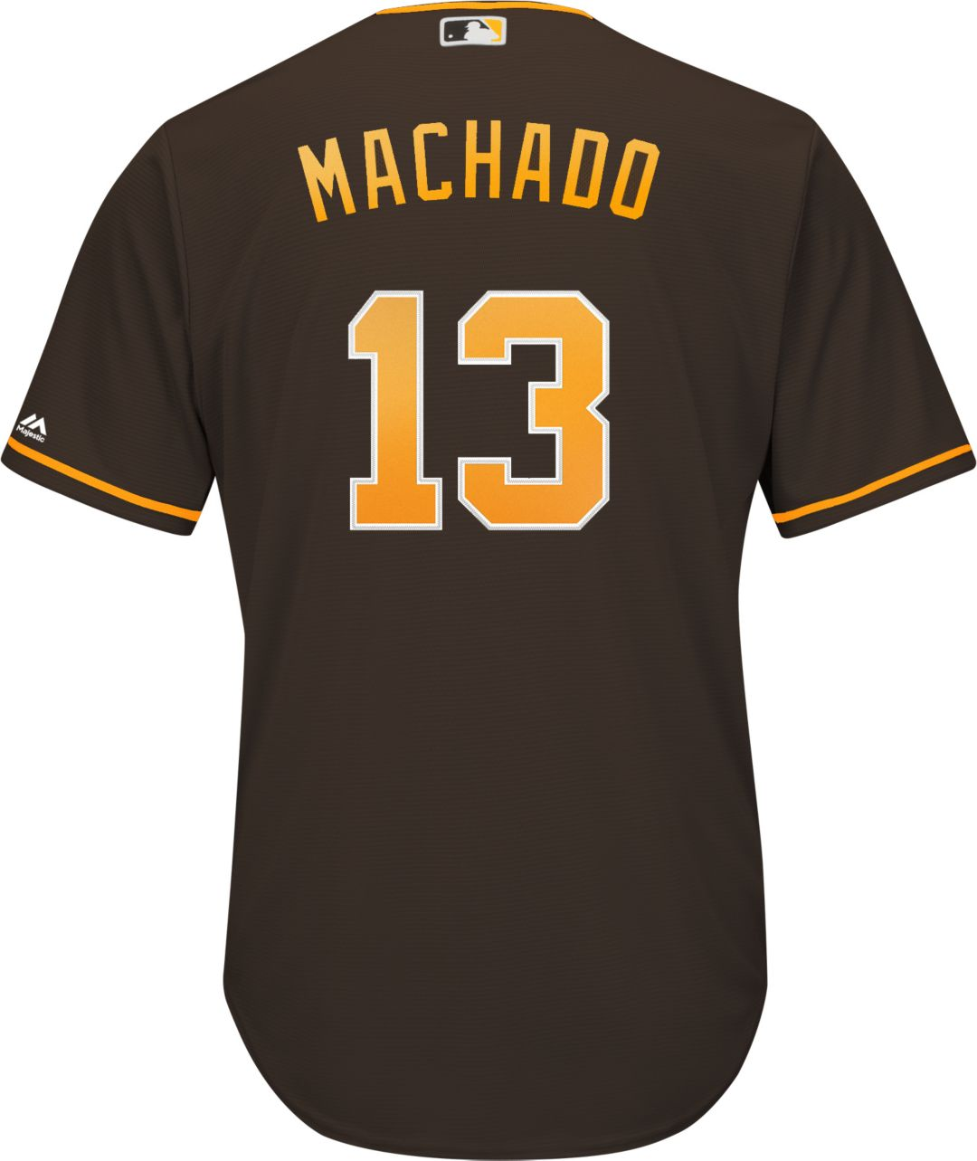 size 40 c3223 a685a Majestic Youth Replica San Diego Padres Manny Machado #13 Cool Base  Alternate Brown Jersey