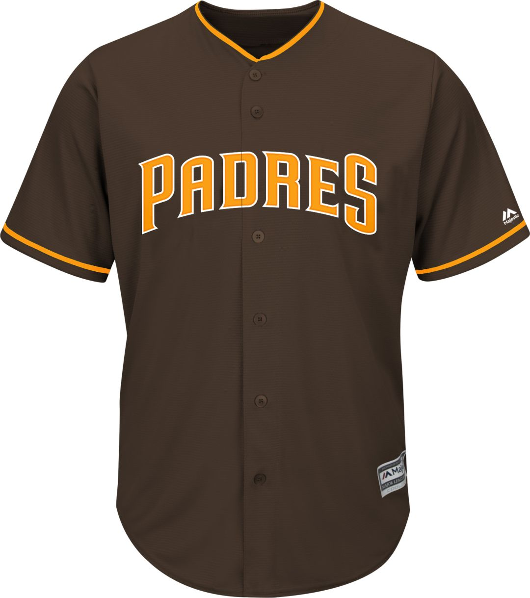 size 40 8cae5 c7b3d Majestic Youth Replica San Diego Padres Manny Machado #13 Cool Base  Alternate Brown Jersey