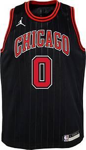 Jordan Youth Chicago Bulls Coby White #0 2020-21 Dri-FIT Statement Swingman Black Jersey product image