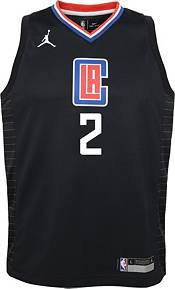 Jordan Youth Los Angeles Clippers Kawhi Leonard #2 2020-21 Dri-FIT Statement Swingman Black Jersey product image