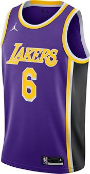 Nike Youth Los Angeles Lakers LeBron James #6 Purple Dri-FIT Swingman Jersey product image