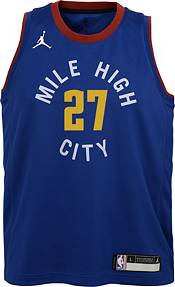 Jordan Youth Denver Nuggets Jamal Murray #27 Blue 2020-21 Dri-FIT Statement Swingman Jersey product image
