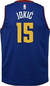 Jordan Youth Denver Nuggets Nikola Jokic #15 Blue 2020-21 Dri-FIT Statement Swingman Jersey product image