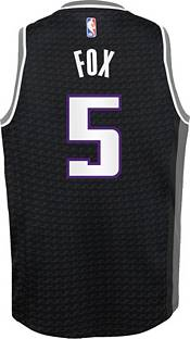 Jordan Youth Sacramento Kings De'Aaron Fox #5 2020-21 Dri-FIT Statement Swingman Black Jersey product image
