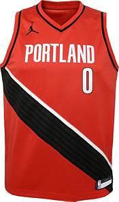 Jordan Youth Portland Trail Blazers Damian Lillard #0 Red 2020-21 Dri-FIT Statement Swingman Jersey product image