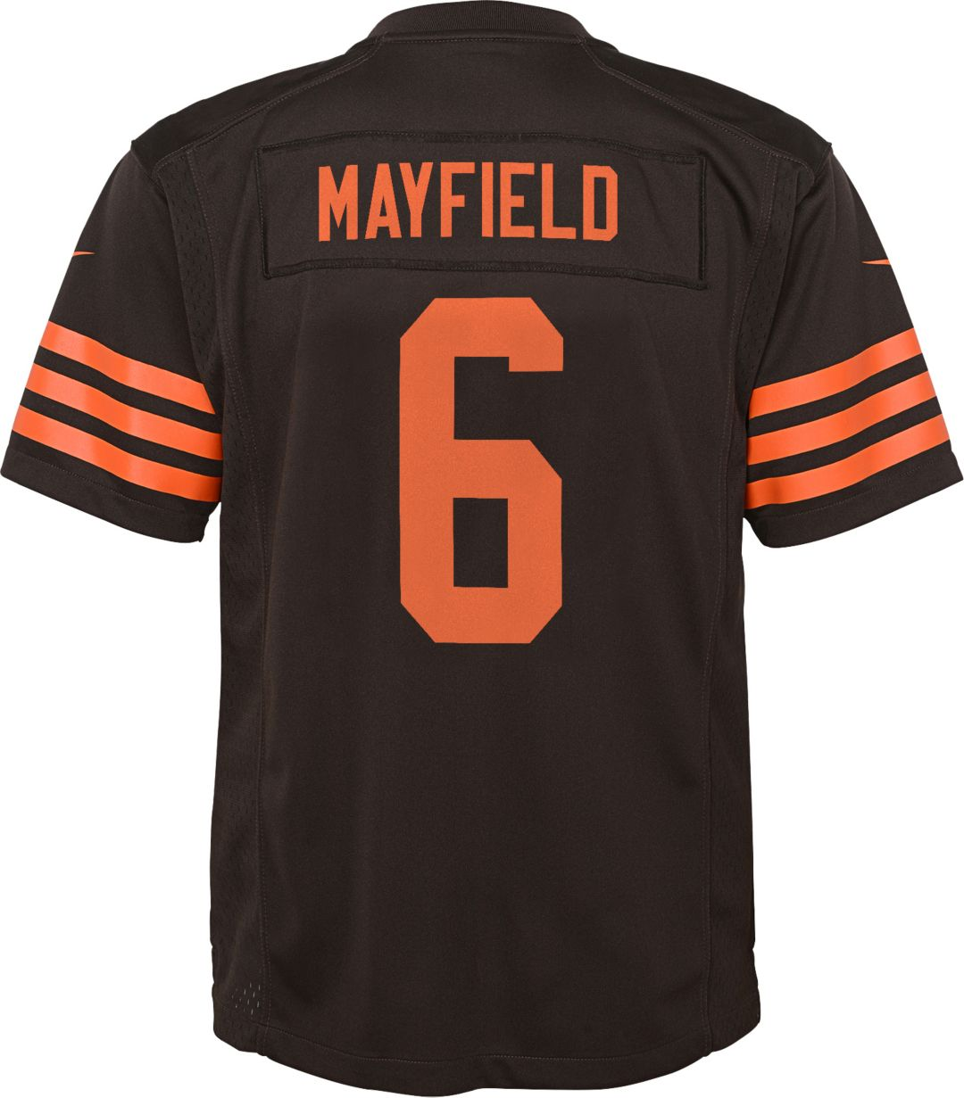 finest selection 93673 1600f Nike Boys' Color Rush Game Jersey Cleveland Browns Baker Mayfield #6