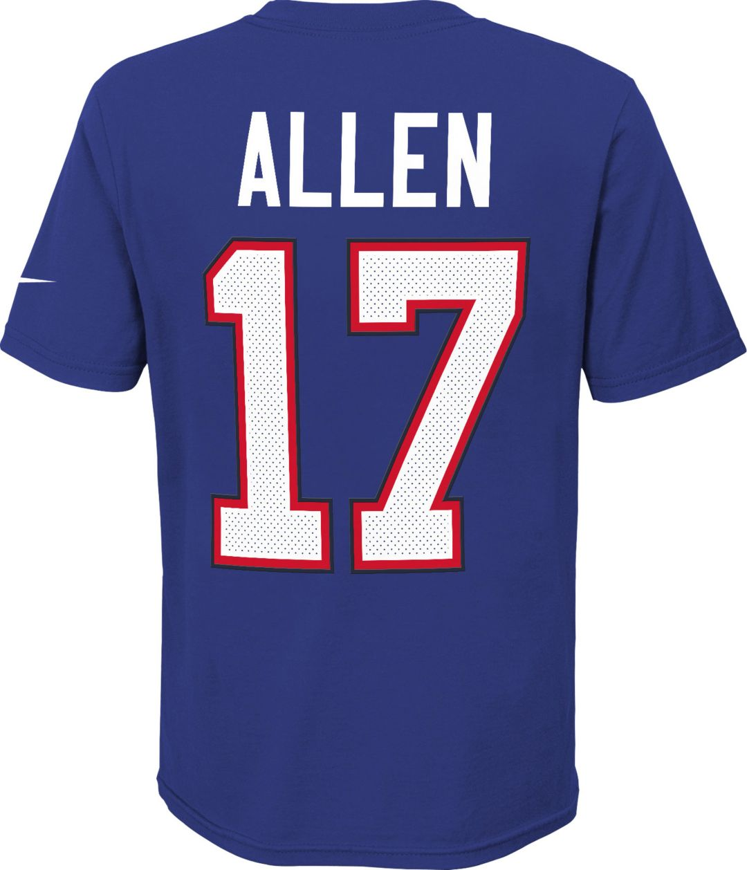 info for eb32a 7c489 Nike Youth Buffalo Bills Josh Allen #17 Pride Royal T-Shirt