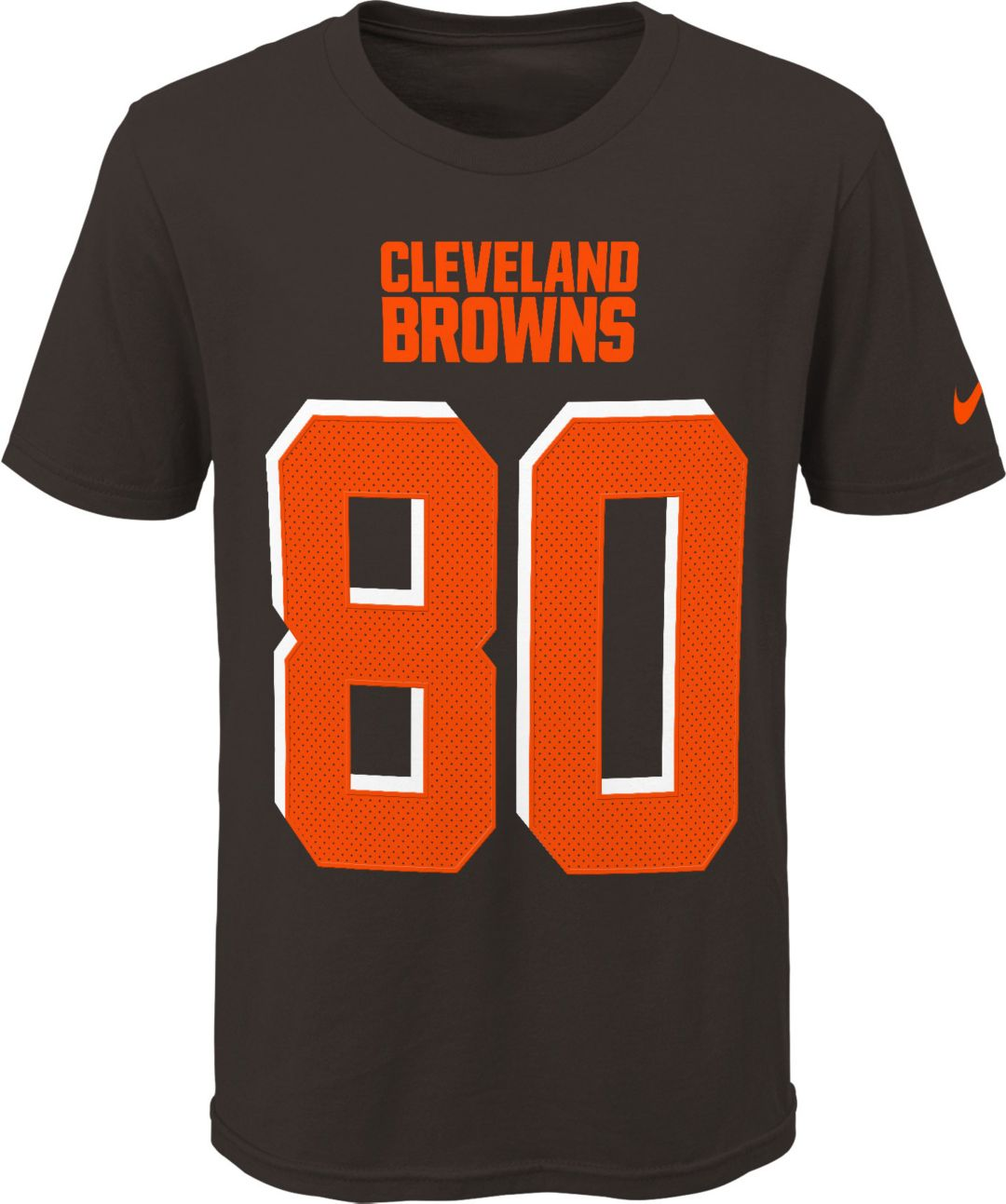the best attitude 19f54 bcb49 Nike Youth Cleveland Browns Jarvis Landry #80 Pride Player Brown T-Shirt
