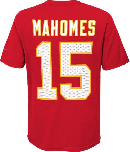 4420c4bd7e3 Nike Youth Kansas City Chiefs Patrick Mahomes #15 Pride Red T-Shirt ...
