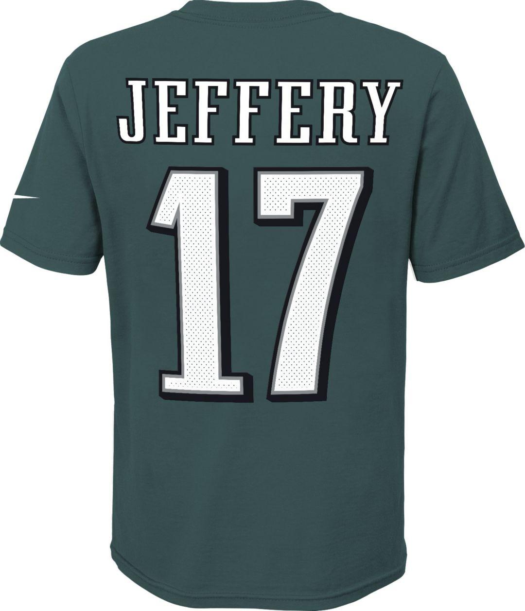 new concept 88729 6c210 Nike Youth Philadelphia Eagles Alshon Jeffery #17 Pride Green T-Shirt