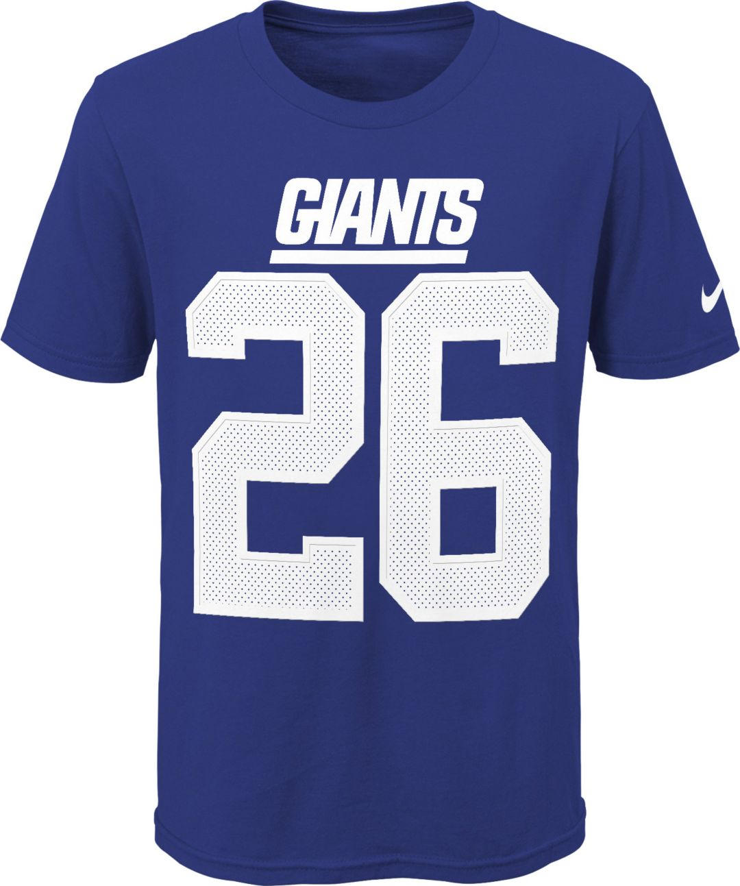 watch 2e6b0 e7042 Nike Youth New York Giants Saquon Barkley #26 Pride Blue T-Shirt