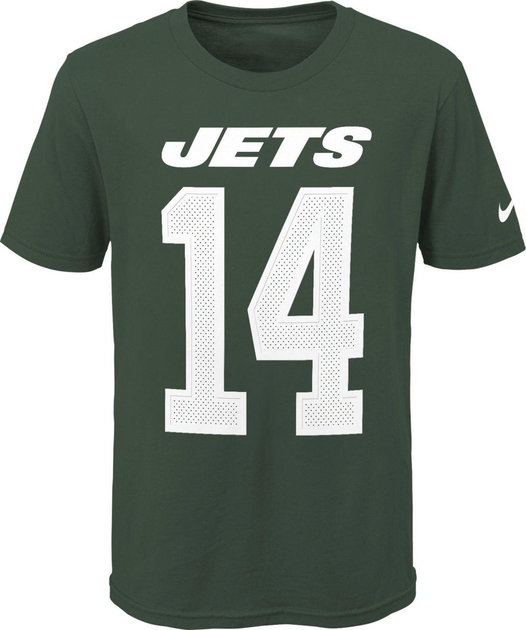 on sale 3daf1 c9cb7 Nike Youth New York Jets Sam Darnold #14 Pride Green T-Shirt