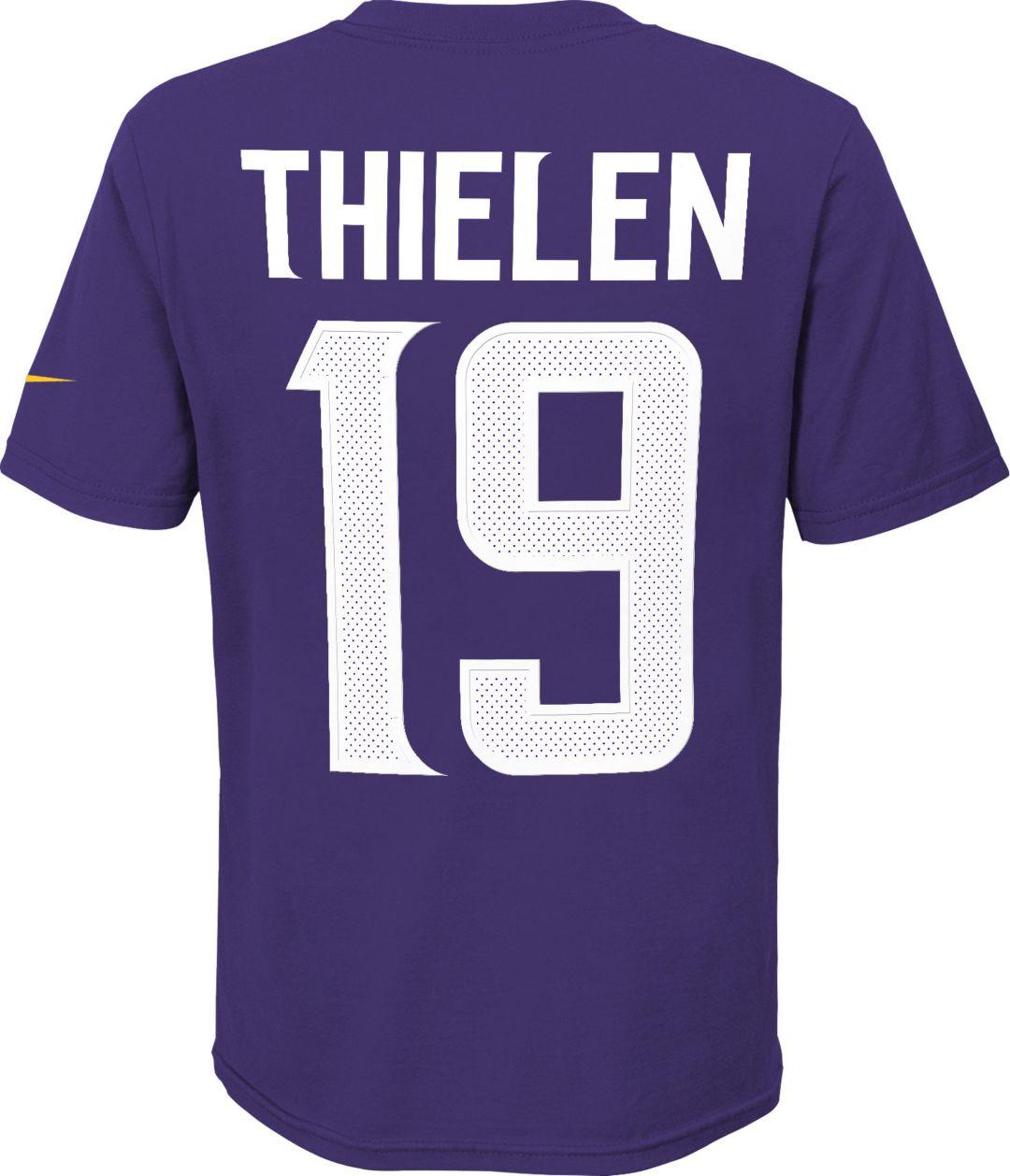 info for a59e5 78538 Nike Youth Minnesota Vikings Adam Thielen #19 Pride Purple Player T-Shirt
