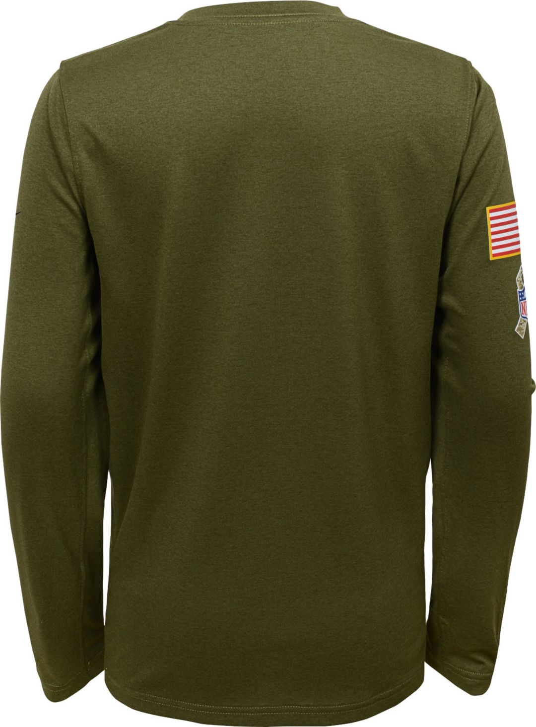 new product 9b283 2c7b4 Nike Youth Salute to Service Jacksonville Jaguars Legend Long Sleeve Olive  Shirt