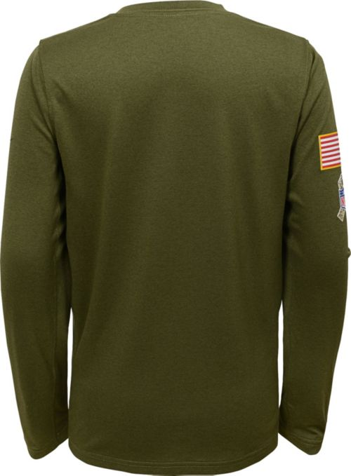 Nike Youth Salute to Service New England Patriots Legend Long Sleeve Olive  Shirt. noImageFound. Previous. 1. 2 05750a974
