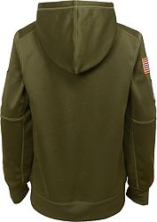b5170bb1 Nike Youth Salute to Service Baltimore Ravens Therma-FIT Olive Performance  Hoodie