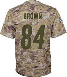 best service ab6a5 4b74a Nike Youth Salute to Service Pittsburgh Steelers Antonio Brown #84  Camouflage Game Jersey
