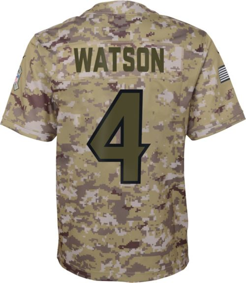 bb5853ac1 Nike Youth Salute to Service Houston Texans Deshaun Watson  4 Camouflage  Home Game Jersey. noImageFound. Previous. 1. 2. 3