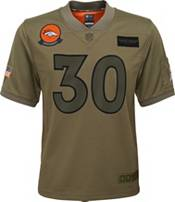Nike Youth Salute to Service Denver Broncos Phillip Lindsay #30 Olive Game Jersey product image