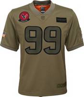 Nike Youth Salute to Service Houston Texans J.J. Watt #99 Olive Game Jersey product image