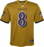 NFL Team Apparel Youth Replica Baltimore Ravens Lamar Jackson #8 Jersey product image