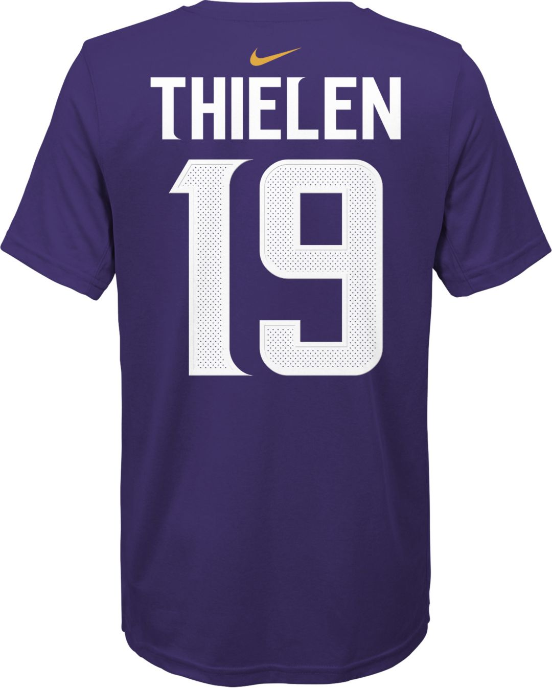 big sale af5fd 56966 Nike Youth Minnesota Vikings Adam Thielen #19 Logo Purple T-Shirt