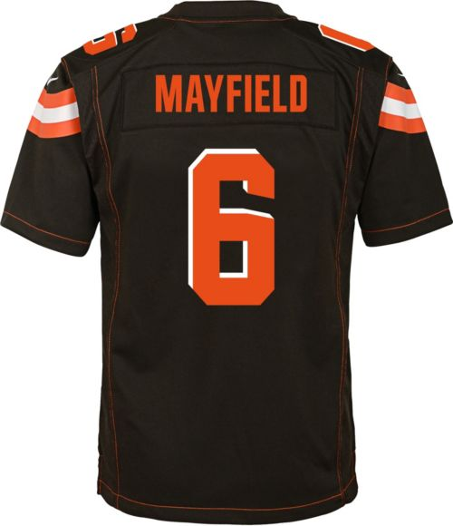 c1c10ca3362 Baker Mayfield  6 Nike Youth Cleveland Browns Home Game Jersey.  noImageFound. Previous. 1. 2. 3