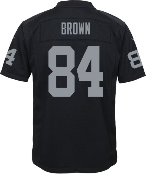 28d972eaa7a5 Antonio Brown  84 Nike Youth Oakland Raiders Home Game Jersey.  noImageFound. Previous. 1. 2. 3